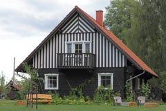 Plattelandshuisje in Spreewald in Duitsland Stock Foto's