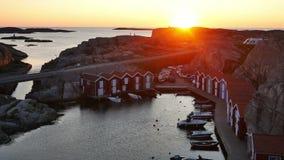 Plattelandshuisje in Zweden, Scandinavië stock video