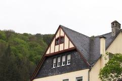 Plattelandshuisjedetail in een Duitse stad Duitsland, Europa royalty-vrije stock fotografie