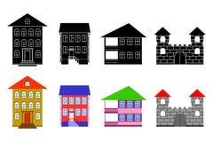 Plattelandshuisjes. vector illustratie