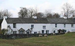 Plattelandshuisjes in Cumbria. Royalty-vrije Stock Afbeeldingen
