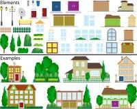 Plattelandshuisjes in de voorsteden. Royalty-vrije Stock Fotografie