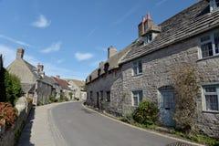 Plattelandshuisjes in dorp van Corfe Royalty-vrije Stock Afbeeldingen