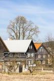 Plattelandshuisjes in Kokorin-Gebied Stock Fotografie