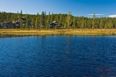 Plattelandshuisjes in Noorwegen Royalty-vrije Stock Foto's