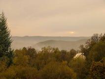 Plattelandslandschap Roemenië Stock Foto's