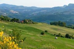 Plattelandslandschap in Toscanië Royalty-vrije Stock Afbeeldingen