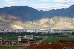 plattelandsstad van Dali Yunnan China Royalty-vrije Stock Afbeeldingen