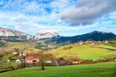 Plattelandstoerisme bij de Baskische gebieden van het Land, Spanje stock foto