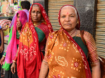 Plattelandsvrouw in Gujarat Royalty-vrije Stock Afbeelding