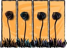 Blumen-Platten Stockfoto