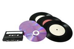 Platten, Platte und Kassette Stockbilder