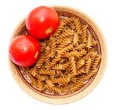 Platten-Teigwaren-Tomate lizenzfreie stockbilder