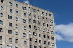 Plattenbau building - gdr building facade Stock Images