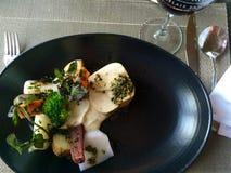 Plattenlebensmittel-Vorbereitungsmahlzeit Chefküchequebecs Kanada Lizenzfreies Stockbild