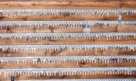 Plattenschlüssel zu einem Bauschlosser Stockfoto