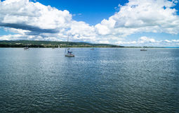 Plattensee - ungarischer See Stockfotografie