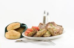 platter δύο γευμάτων Στοκ Εικόνες
