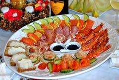Platter θαλασσινών στοκ φωτογραφίες
