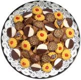 platter μπισκότων Στοκ φωτογραφίες με δικαίωμα ελεύθερης χρήσης