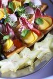platter τροφίμων δάχτυλων Στοκ Εικόνες