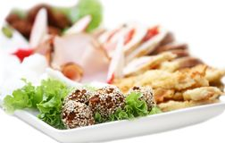 Platter with appetizers Stock Images