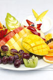 Platter of a assorted fresh fruit Royalty Free Stock Photo