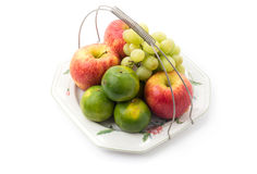 Platter of assorted fruit Royalty Free Stock Image