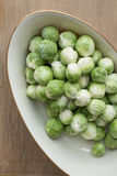 Platter of Brussel Spouts Royalty Free Stock Image