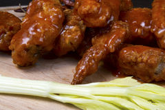 Platter of Buffalo Chicken Wings stock photography