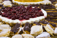 Platter with cakes Royalty Free Stock Image