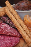 Platter or cold cuts Stock Images