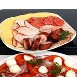 Platter of cold meats Royalty Free Stock Images