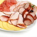 Platter of cold meats Royalty Free Stock Image