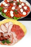 Platter of cold meats Stock Images