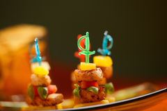 Platter of colorful appetizers Stock Photography
