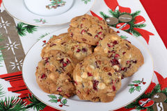 Platter of Cranberry Cookies Stock Photos