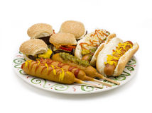Platter of food Royalty Free Stock Photos