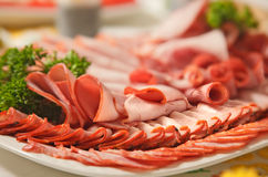 Platter of fresh cold-cuts Stock Image