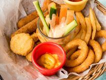 Platter of fried food Royalty Free Stock Images
