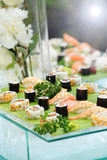 Platter of gourmet sushi Royalty Free Stock Images