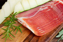 Platter of ham Stock Photo