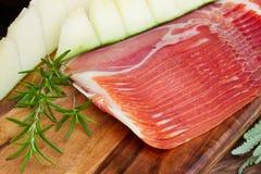 Platter of ham Stock Photo