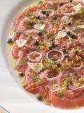 Platter of Marinated Salmon Stock Photo