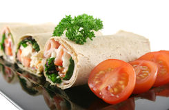 Platter Of Mixed Wraps Royalty Free Stock Images