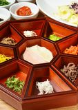 Platter of nine delicacies Royalty Free Stock Image