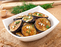 Platter Of Grilled Eggplant Royalty Free Stock Photo