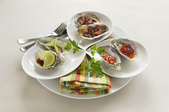 Platter Of Oysters Royalty Free Stock Photo
