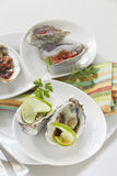 Platter Of Oysters Stock Photography