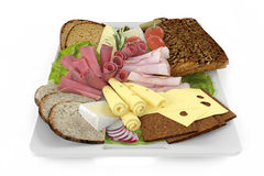 Platter. Plate of snack. Royalty Free Stock Photography